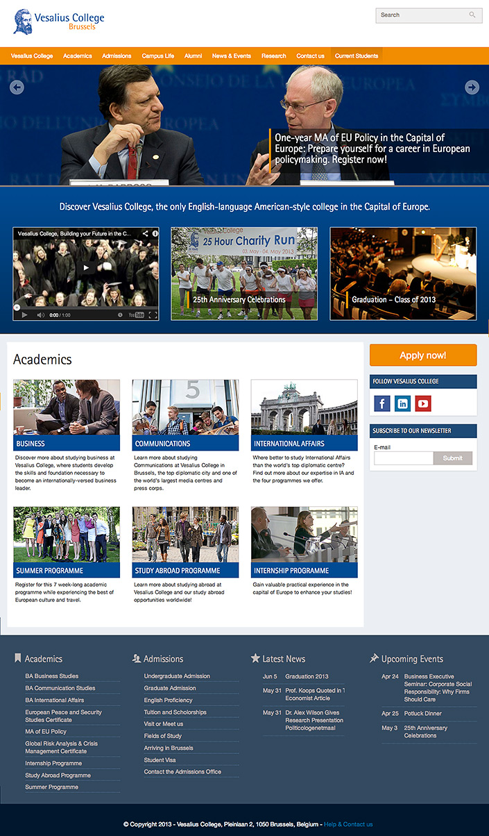 vesalius_edu_homepage