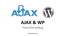 AJAX and WordPress intro at showcase meetup Antwerpen